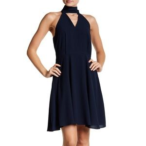 Betsey Johnson 4 Fit & Flare Navy Dress